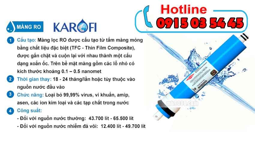 máy lọc nước karofi iro 1.1 không tủ bảo hành 2 năm