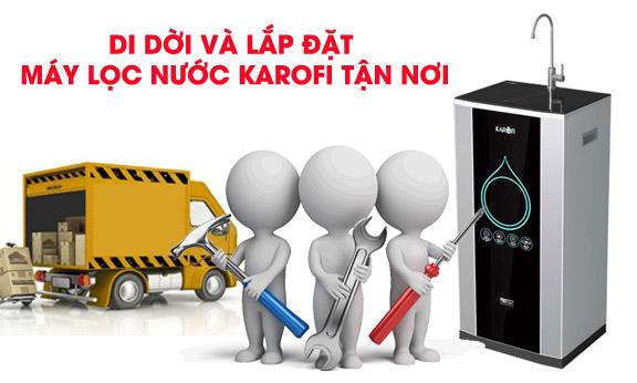Di dời và lắp đặt máy lọc nước Karofi tận nơi