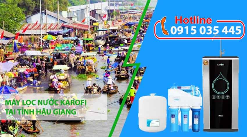 đại lý máy lọc nước karofi tại tỉnh hậu giang