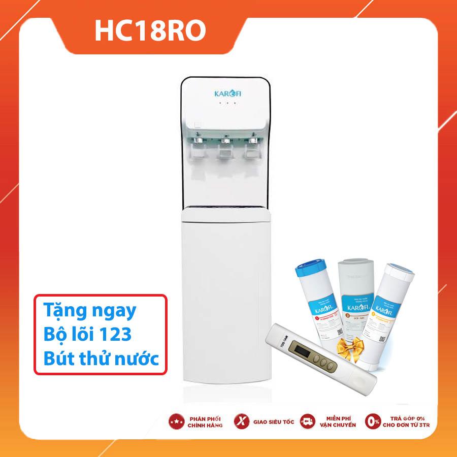 Cây nước nóng lạnh nguôi tích hợp lọc Karofi HC18-RO