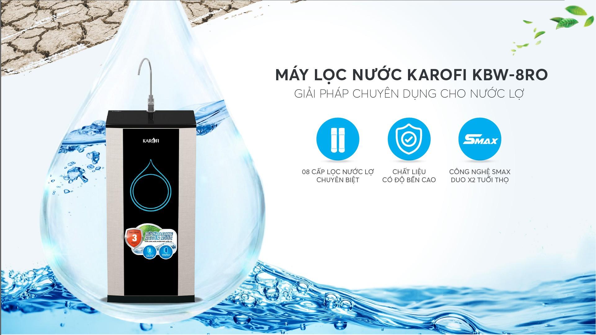 máy lọc nước lợ karofi kbw-8ro giá rẻ