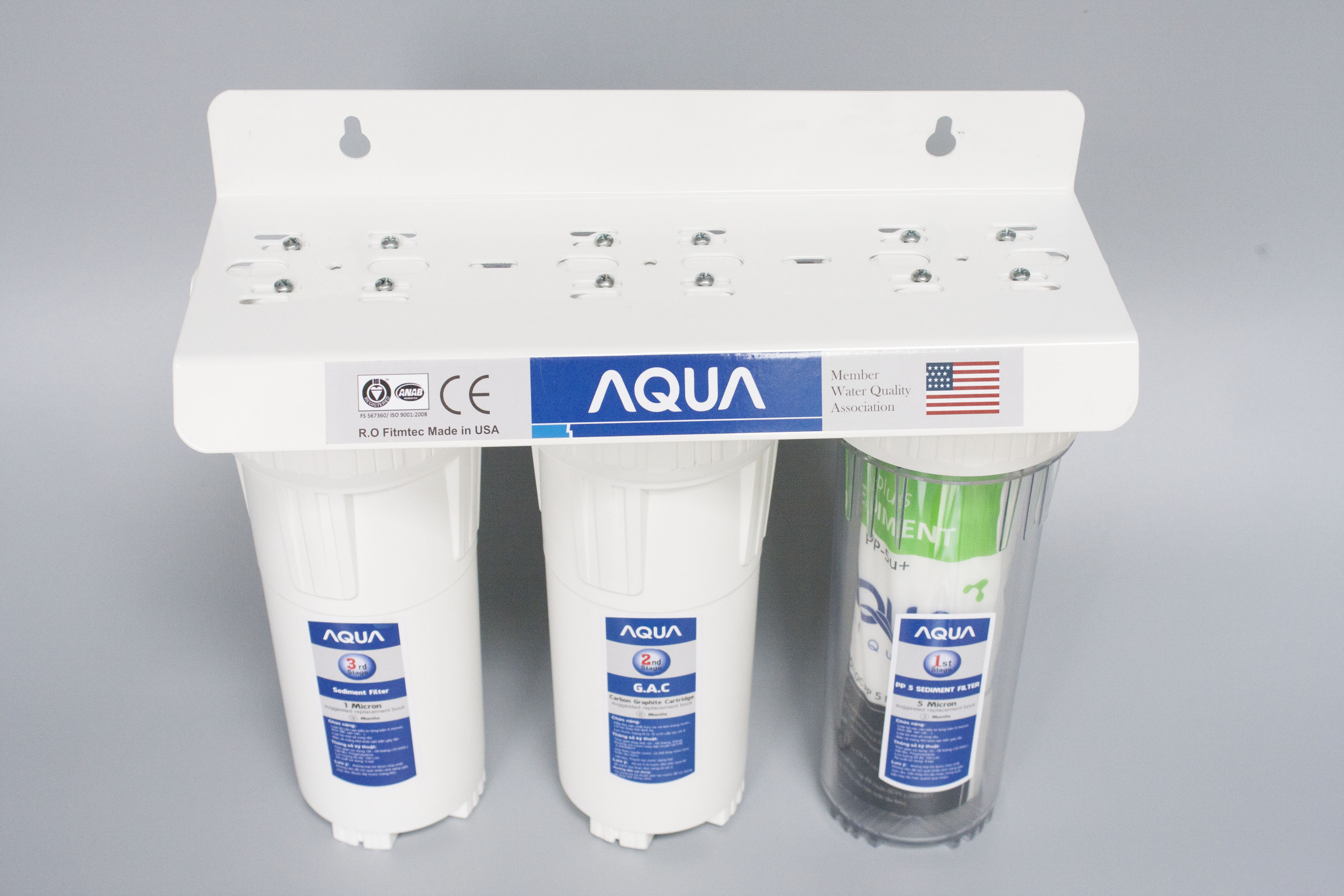 Bộ lọc thô 3 cấp 10in – lọc rửa chén, bát, rau củ