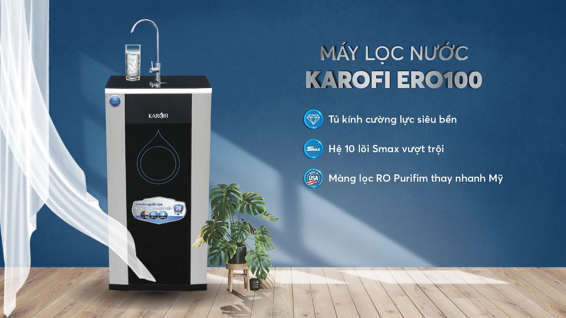 máy lọc nước karofi ERO100 10 lõi lọc