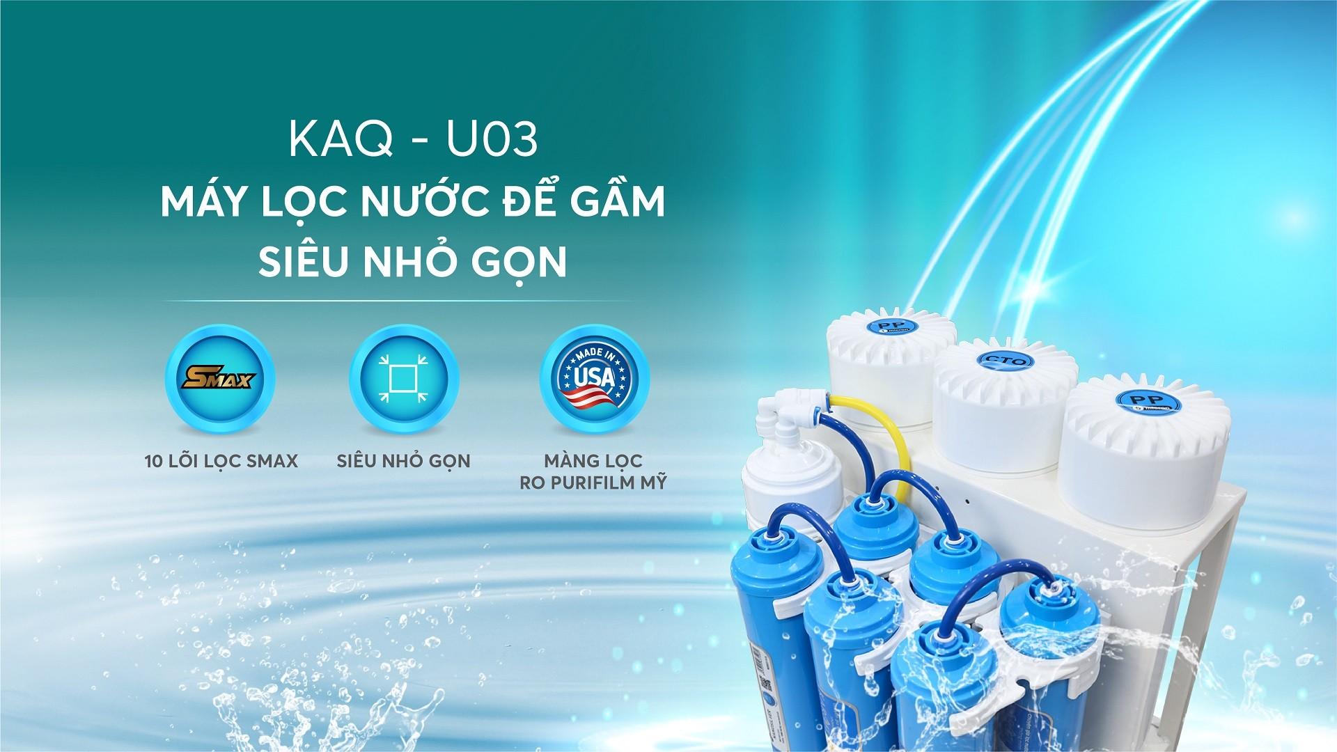 máy lọc nước karofi KAQ-U03 mới nhất 2021