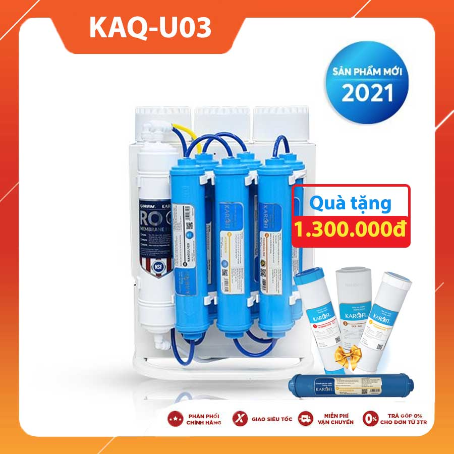 MÁY LỌC NƯỚC KAROFI KAQ-U03 NEW 2021 (10 lõi lọc)