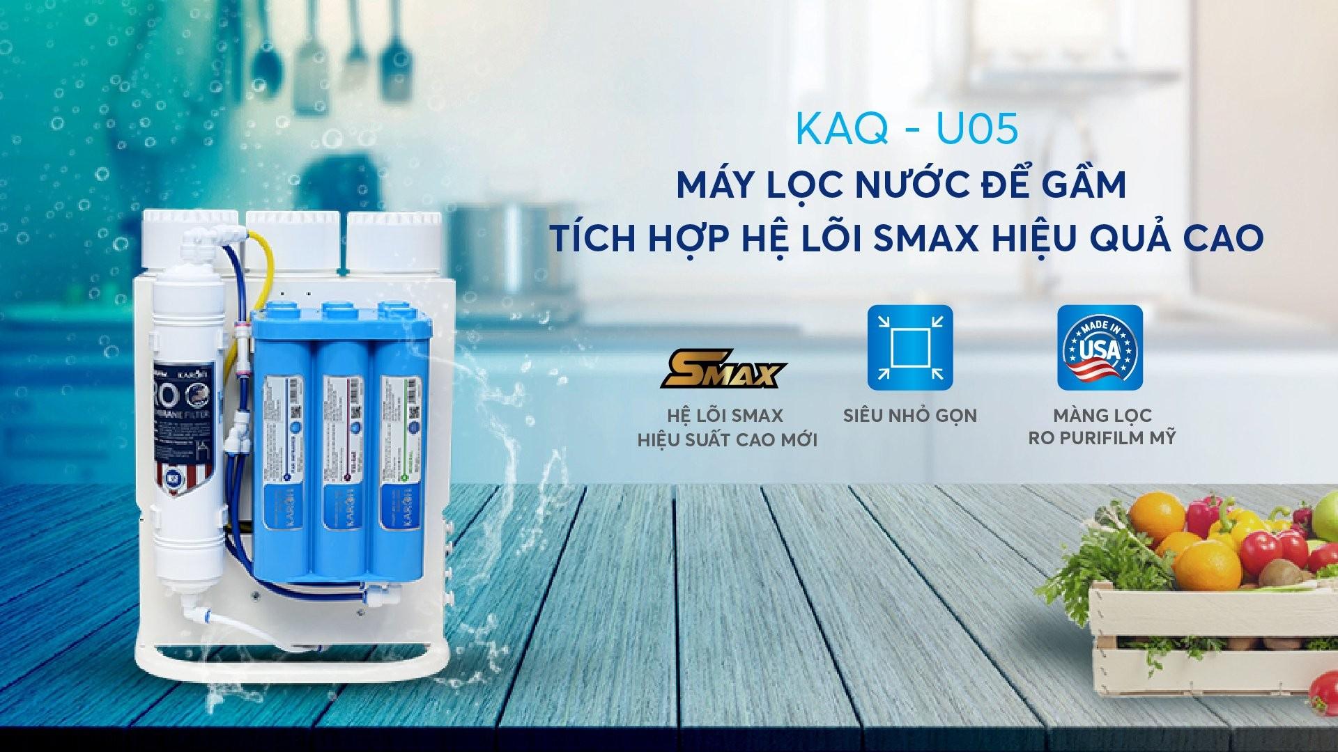 máy lọc nước karofi KAQ-U05 2021 mới