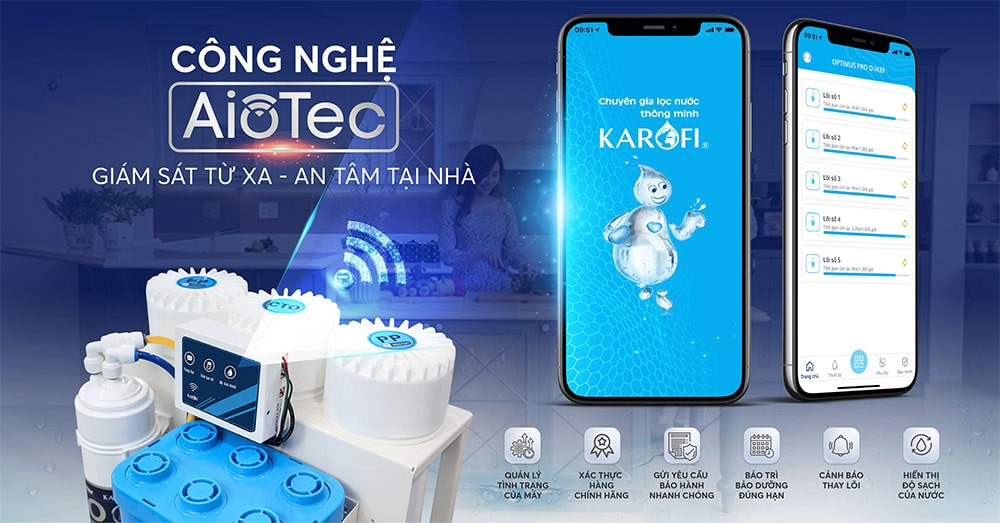 máy lọc nước karofi kaq-u95 mới